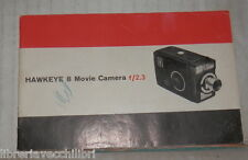 OPUSCOLO PUBBLICITARIO HAWKEYE 8 MOVIE CAMERA F 2 3 Video Camera Tecnica Cine