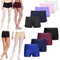 Girls' Gymnastics Leotard Shorts Kids Sport Yoga Gym Dance High Waist Hot Pants