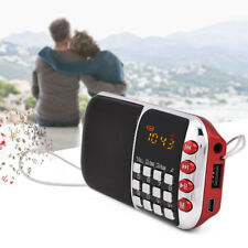 Portatile LCD FM Radio HiFi Stereo Speaker Music Player Micro SD TF USB Disk AUX