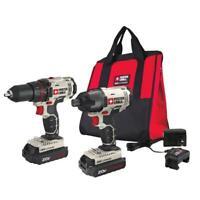 PORTER-CABLE 20V MAX Cordless Drill and Impact Driver Combo Kit - PCCK604l2
