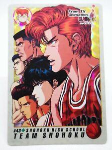 Slam Dunk Bandai 1994 carddass From TV Animation made in japon #43 Team Shohoku