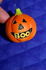"""Estate Halloween Decor Ornaments to hang on Tree or.Resin 1-1/2""""D Pumpkin"""