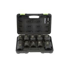 "10 Piece 1"" Drive SAE & Metric Truck Service Impact Socket Set With Case NEW!!!"