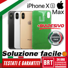 VETRO+BIADESIVO BACK COVER SCOCCA POSTERIORE x APPLE IPHONE XS MAX RETRO HOUSING