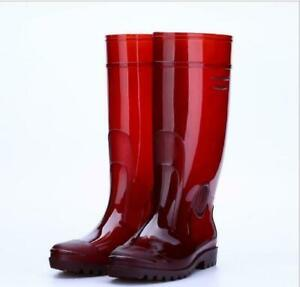 Mens Rubber Shoes Antiskid High Tube No Cloth Rain Boots Labor Shoes Outdoor