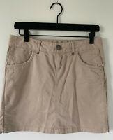 ATHLETA Kaleidoscope Cotton Skirt Khaki Outdoor Hiking Womens Size 2 #443485 EUC
