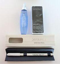SEACRET Minerals of Dead Sea Cuticle Oil, Buffing Block & White Nail Pencil Set