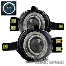Fits 02-08 Ram 1500/2500/3500/04-06 Durango Clear Halo Projector Fog Lights Lamp