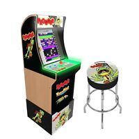 Frogger Retro Arcade1UP Home Cabinet Machine Arcade 1UP Riser Light Up Marquee