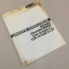 ECHO CS-510EVL CS-510EVLP CHAINSAW PARTS CATALOG MANUAL CHAIN SAW ILLUSTRATIONS