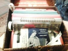 1955 Emenee Toy Golden Piano Accordion  Blue Gold Plastic And booklet Vintage