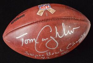 """NFL Salute to Service Game Football Special """"K"""" Kicker ball Tom Coughlin Signed"""