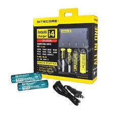 New NITECORE i4 Charger 2014 Version w/ 2X OLIGHT 3400mAh 18650 Li-ion batteries