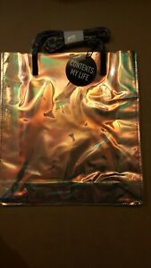 Macy's Contents My Life Clear Holographic Tote Bag