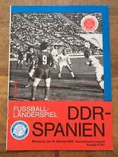 Fußball Programm Länderspiel 1980 DDR - Spanien in Leipzig - Zentralstadion
