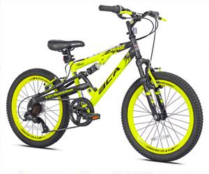 """bicicleta motañera 20"""" Savage Boys Mountain Bike Yellow/Black"""