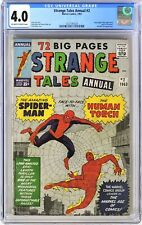 S454. STRANGE TALES ANNUAL #2 Marvel CGC 4.0 VG (1963) 1st SPIDER-MAN Crossover