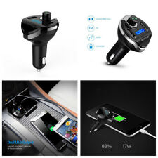 Wireless Bluetooth Handsfree FM Transmitter Dual USB Car Charger For MobilePhone