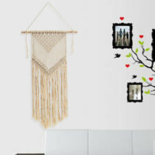 Handmade Beige Macrame Woven Wall Hanging Tapestry Geometric Home/Party Decor