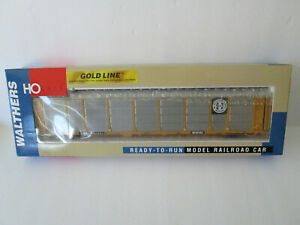 WALTHERS 932-40103 GOLD LINE BI-LEVEL ENCLOSED AUTO CARRIER BNSF TTGX 160534