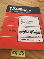 Autobianchi A111 Primula 65C Coupé S Revision Technik Automobil RTA Prop 1970