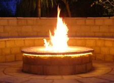 BRIGHTSTAR LPG Bottled Gas Fire Pit Burner Only. Round 18kw, Patio Heater UK