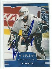 Ty Conklin Signed 2002/03 Be A Player First Edition Card #284