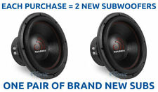 "(2) MASSIVE AUDIO 2800 Watt 12"" Inch Dual 4 Ohm Car Subwoofers Subs 