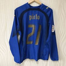 ITALY 2006 HOME FOOTBALL SHIRT JERSEY LONG SLEEVE 21 PIRLO PUMA  REPLICA