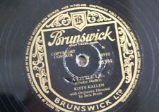 78rpm KITTY KALLEN a little lie / take everything but you