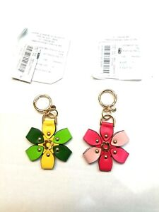 NWT MICHAEL KORS Multi Color 3D Leather Flower Charm 32T8TF3KOY Pink or Green