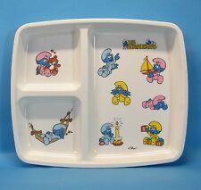 Baby Tablett plateau mit Schlumpf Motiv Baby Schlümpfe Melamine 25 cm