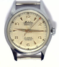 Antique Rare  MOBILIA Incabloc Swiss 17j Mens Watch Case & Movement Working W92