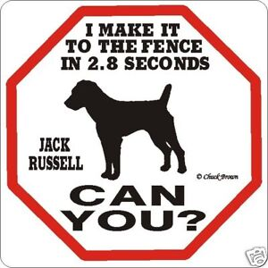 Jack Russell 2.8 Fence Dog Sign