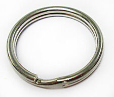 """Sale 1000 Key Rings 28mm 1 1/8"""" Split Ring Silver Spring-Tempered Top Quality"""