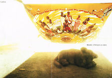 PUBLICITE ADVERTISING 064  1997  HERMES   ( 2 pages)  L'AFRIQUE AU COEUR