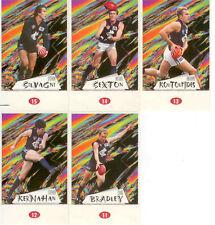 POPULAR-1997 AFL Stickers Stand Up Card Team Set Carlton (5)
