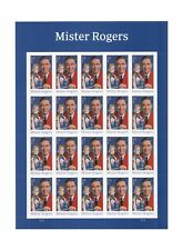 USPS Mister Mr. Rogers one Sheet of 20 Forever USPS Postage Stamp Celebration...