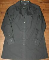 BROOKS BROTHERS 346 Shirt Top Size 12 Button Black Long Sleeve Solid Womens
