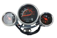 New Scooter Speedometer Gas Gauge Cluster Retro Style 49cc 50cc Chrome 80MPH