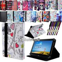 "For Various 7"" Huawei MediaPad Tablet - Smart Stand Leather Cover Case + Stylus"