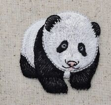 Panda Bear - Standing - Natural - Iron On Applique/Embroidered Patch
