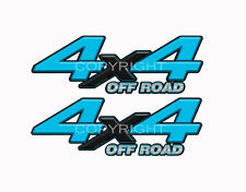 4X4 OFFROAD Light Blue Decals Truck Graphic Laminated Stickers 2pack KM095ORBX
