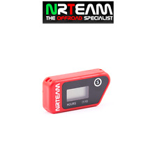 NRTEAM CONTAORE WIRELESS CROSS ENDURO VIBRAZIONE VIBRATION HOUR MOTO ROSSO