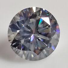 Round Brilliant Cut Loose Moissanite 4 Ring 1.81 Ct 8.39x4.68 mm Vvs1 Light Gray