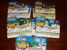 CLUB PENGUIN FIGURES SERIES 4 FRANKENPENGUIN BUMBLE LIFEGUARD CAMPER SCIENTIST