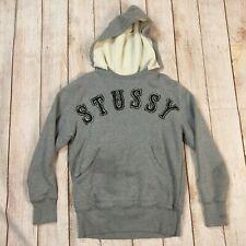 Stussy Gray Pullover Kangaroo Logo Hoodie Sz Large Cotton SWEET