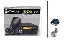 New Cobra 19DXIV Compact CB Radio, 4ft foot 1000 watt Antenna, Coax & Mount Kit
