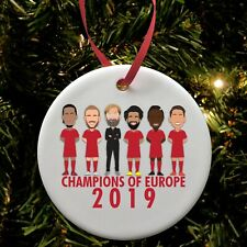 Liverpool Champions Of Europe Christmas Tree Decoration Bauble Ceramic Klopp etc