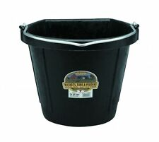 Little Giant Flat Back Rubber Bucket For Hanging Against Wall or Fence 20 Quart